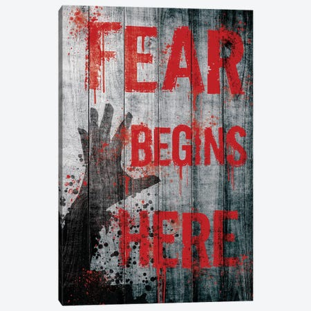 Fear Begins Here Canvas Print #TUD8} by 5by5collective Canvas Art