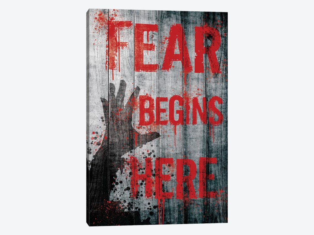 Fear Begins Here by 5by5collective 1-piece Canvas Art