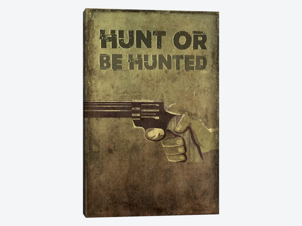 Hunt Or Be Hunted by 5by5collective 1-piece Canvas Print