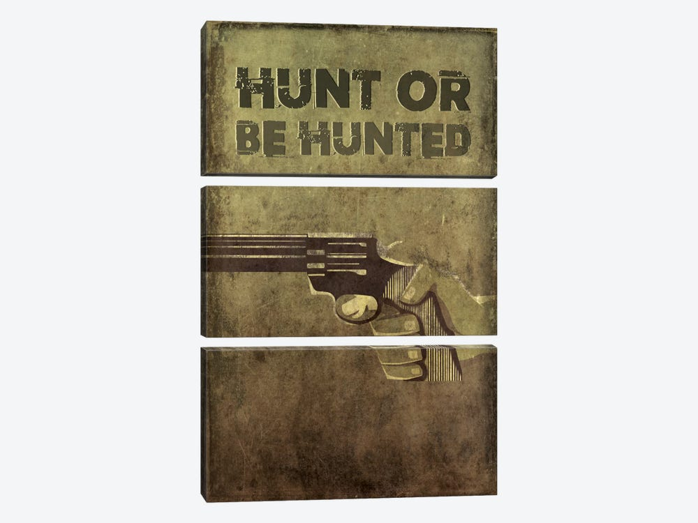Hunt Or Be Hunted by 5by5collective 3-piece Art Print