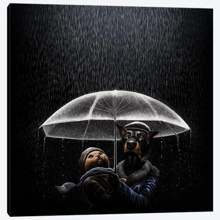 Cat And Dog Canvas Print #TUM11} by Tummeow Canvas Art