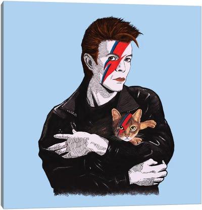 David & The Cat Canvas Art Print