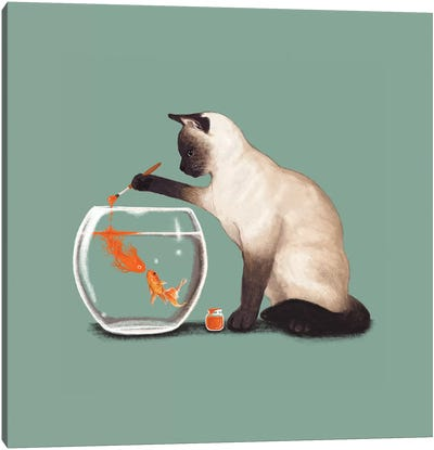 Goldfish Need Friend Canvas Art Print