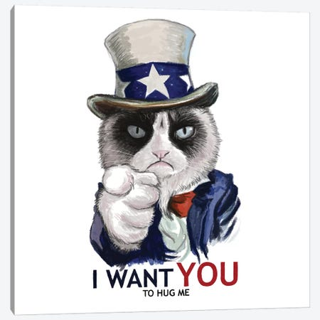 I Want You Canvas Print #TUM34} by Tummeow Art Print