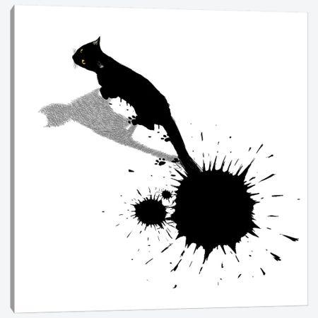 Inkcat II Canvas Print #TUM38} by Tummeow Canvas Artwork