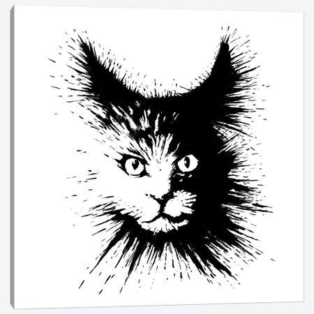 Inkcat IV Canvas Print #TUM40} by Tummeow Canvas Print