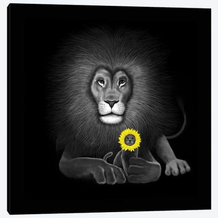 Lion Canvas Print #TUM43} by Tummeow Art Print