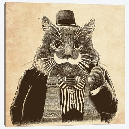 Mustache Canvas Print #TUM47} by Tummeow Canvas Artwork