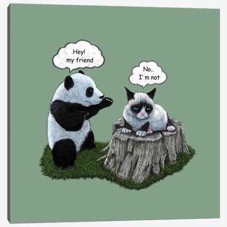 Panda Canvas Print #TUM49} by Tummeow Canvas Print