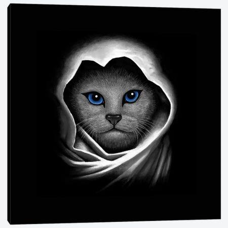 Blue Eyes Canvas Print #TUM4} by Tummeow Canvas Art