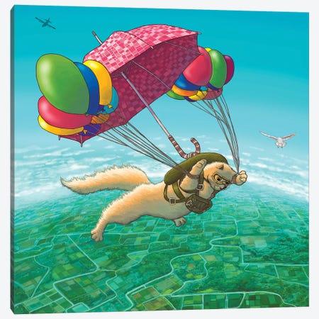 Parachute Canvas Print #TUM50} by Tummeow Canvas Artwork