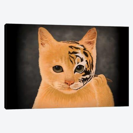 Tiger Canvas Print #TUM59} by Tummeow Canvas Artwork
