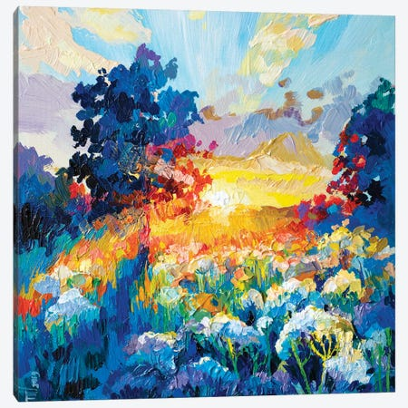 First Rays Canvas Print #TVA12} by Anastasia Trusova Canvas Wall Art
