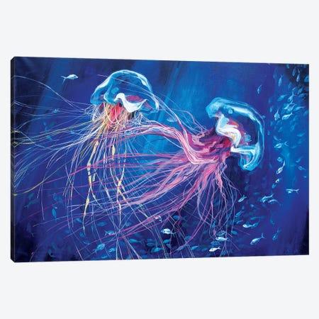 Jellyfish Canvas Print #TVA18} by Anastasia Trusova Canvas Art