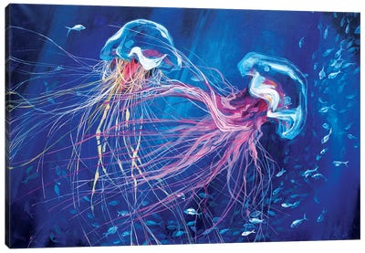 Jellyfish Canvas Art Print