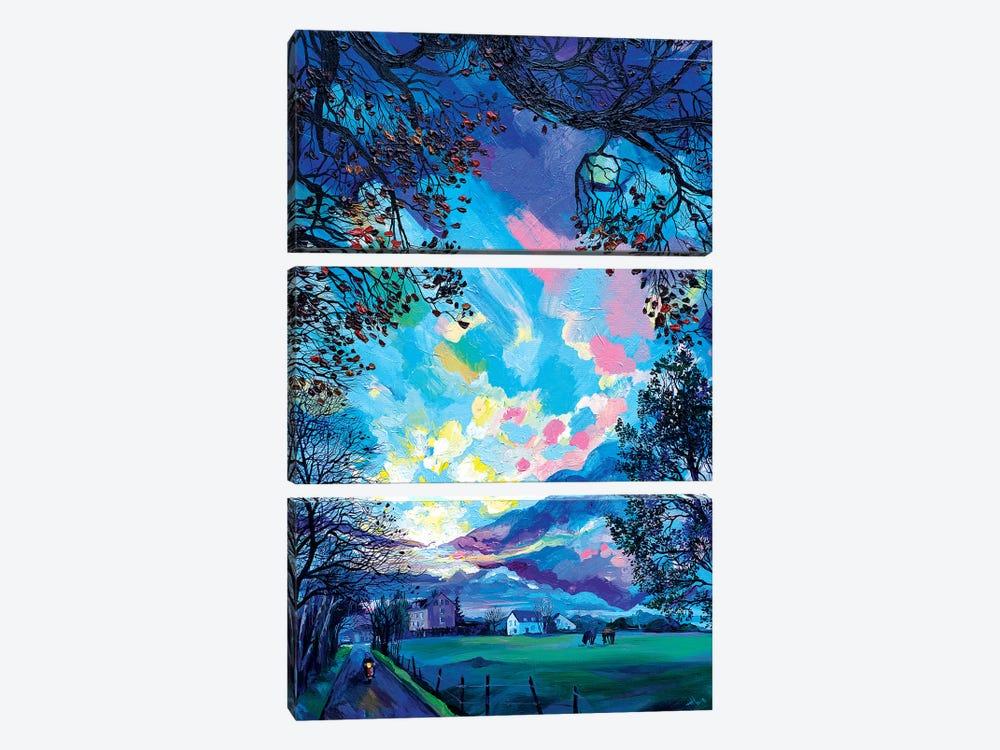 Morning In Lichtenbusch by Anastasia Trusova 3-piece Canvas Artwork