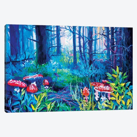 Mushrooms, But Not Those 3-Piece Canvas #TVA24} by Anastasia Trusova Canvas Artwork