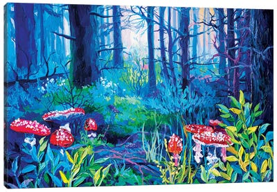 Mushrooms, But Not Those Canvas Art Print