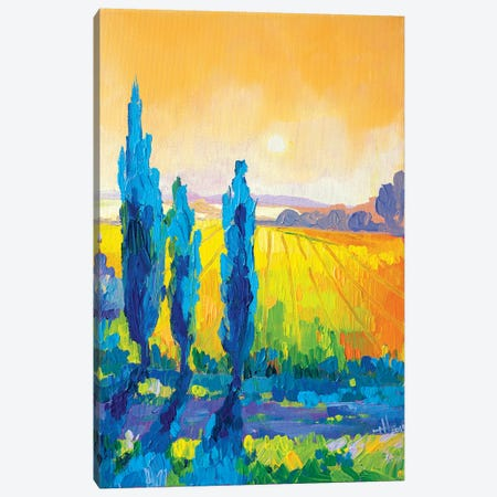 Poplars At Dawn Canvas Print #TVA30} by Anastasia Trusova Canvas Wall Art