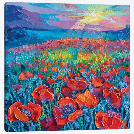 Poppy Field Canvas Print #TVA31} by Anastasia Trusova Canvas Art