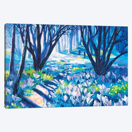 Snowdrops Canvas Print #TVA38} by Anastasia Trusova Canvas Artwork