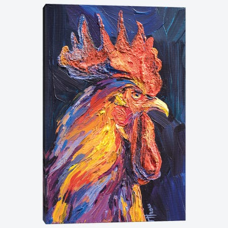 Cockerel Canvas Print #TVA56} by Anastasia Trusova Canvas Print