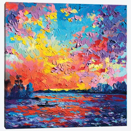 Boatman Canvas Print #TVA5} by Anastasia Trusova Canvas Print