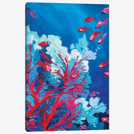 Coral Fish Canvas Print #TVA66} by Anastasia Trusova Canvas Wall Art