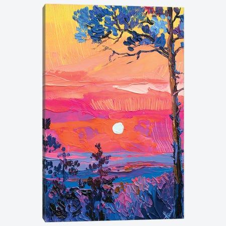 neon sunset Canvas Print #TVA74} by Anastasia Trusova Canvas Print