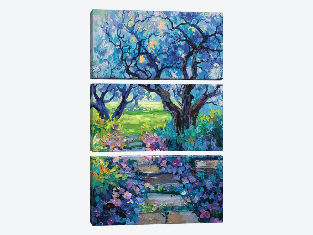 park path by Anastasia Trusova 3-piece Canvas Art Print