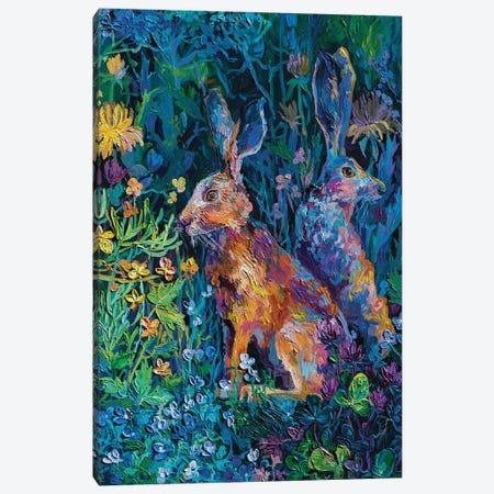 two brothers Canvas Print #TVA76} by Anastasia Trusova Art Print