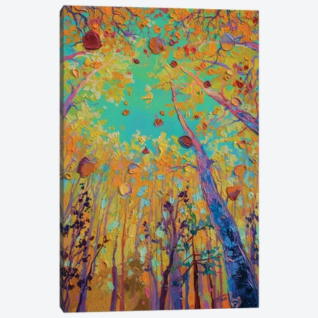 leaf fall fragment Canvas Print #TVA88} by Anastasia Trusova Art Print