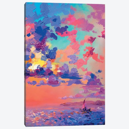 Pink Dawn Canvas Print #TVA92} by Anastasia Trusova Canvas Artwork