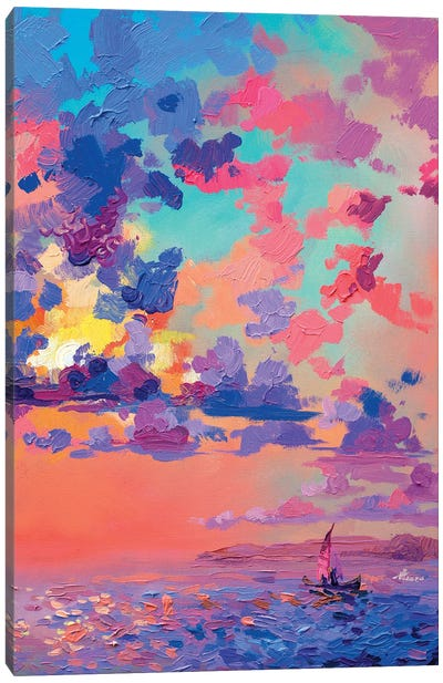 Pink Dawn Canvas Art Print