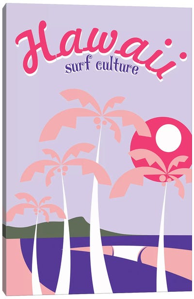 Hawaii Surf Culture Canvas Art Print