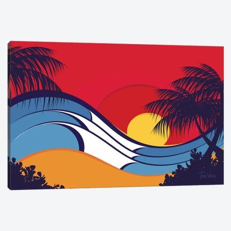 Hawaii Waves Canvas Print #TVE17} by Tom Veiga Art Print