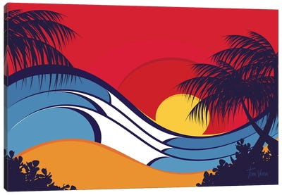 Hawaii Waves Canvas Art Print
