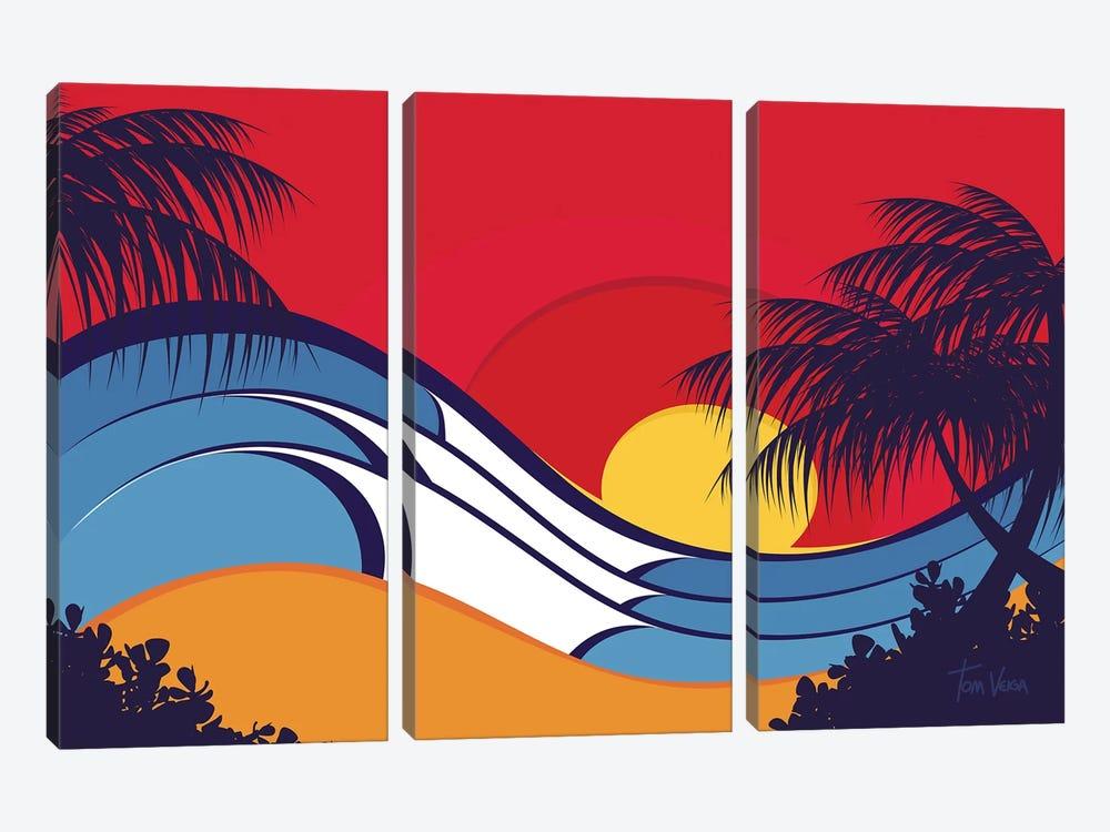 Hawaii Waves by Tom Veiga 3-piece Canvas Artwork