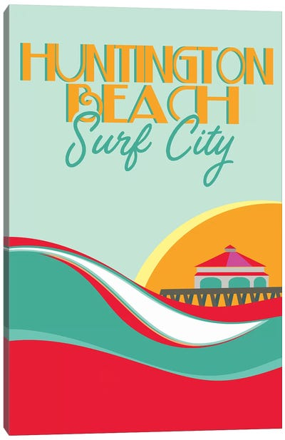 Huntington Beach Canvas Art Print