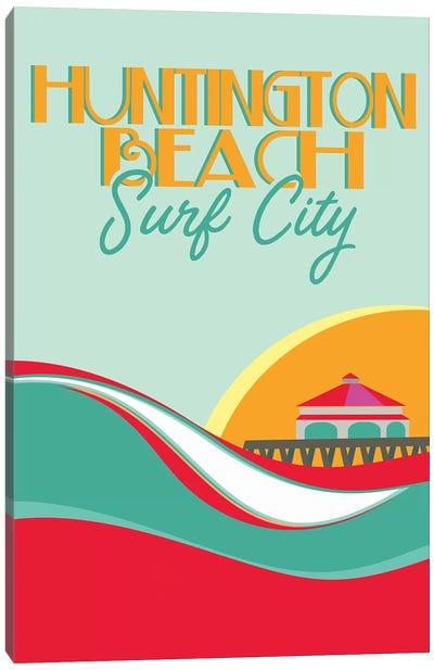 Huntington Beach Canvas Art Print