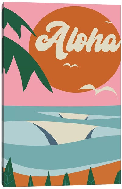 Aloha Beach Canvas Art Print