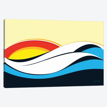 Ondas De Imbituba Canvas Print #TVE26} by Tom Veiga Canvas Art