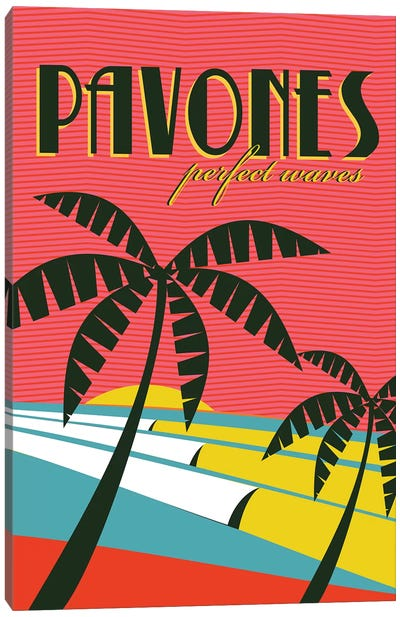Pavones Canvas Art Print