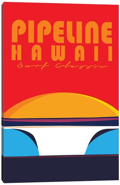 Pipeline Hawaii Canvas Art Print