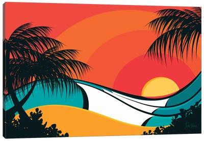 Pipeline Waves Canvas Art Print