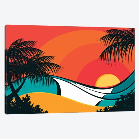 Pipeline Waves Canvas Print #TVE32} by Tom Veiga Canvas Wall Art
