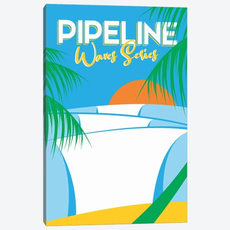 Pipeline Waves Series Canvas Print #TVE33} by Tom Veiga Canvas Artwork