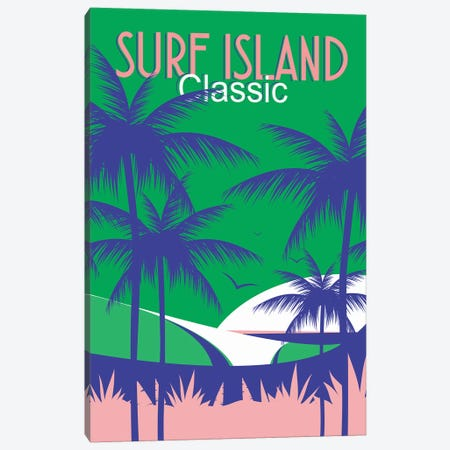 Surf Island Canvas Print #TVE48} by Tom Veiga Art Print