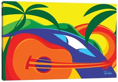 Surf Music Canvas Art Print