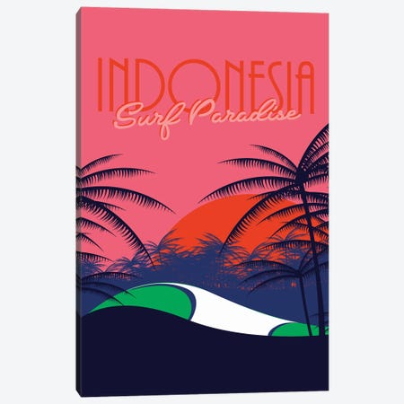 Surf Paradise Canvas Print #TVE50} by Tom Veiga Canvas Artwork